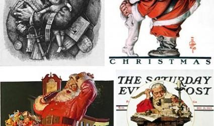 插圖畫家筆下流行的圣誕老人形象相關圖片