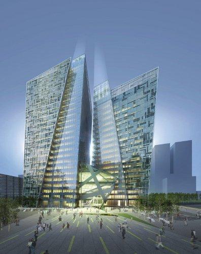 充满活力的姿态,韩国KT地标塔大厦设的相关图片