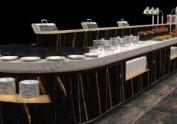 洗浴健身会所自助餐厅设计效果图 自