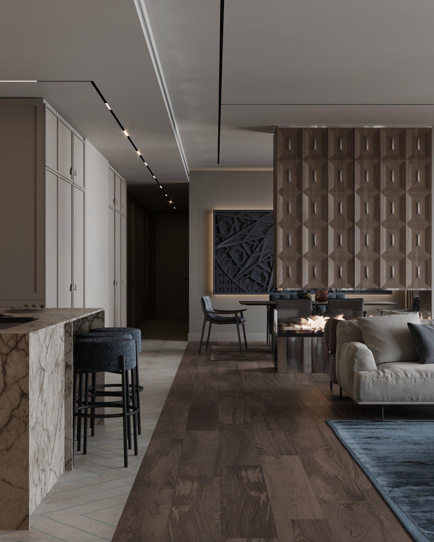 基辅现代轻奢的住宅设计的相关图片
