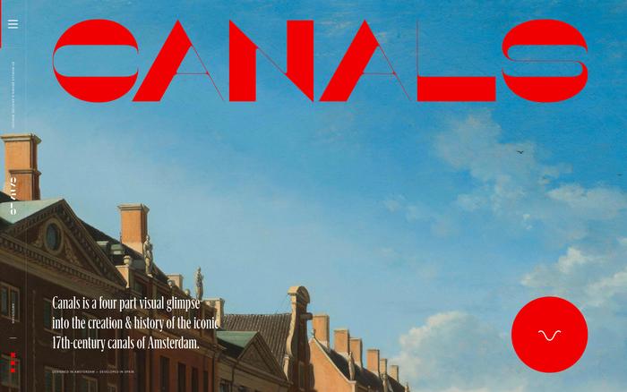 讲述历史,阿姆斯特丹运河网站设计的相关图片