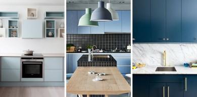 12種藍色調的廚房設計靈感