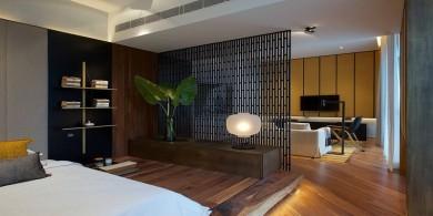室內設計理念-在一個小公寓臥室中使用屏風分隔房間