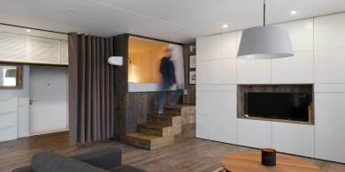 小公寓設計理念——抬高的臥室允許加裝存儲柜