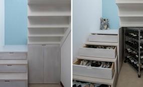 樓梯設計理念:把鞋和酒藏在你的樓梯里