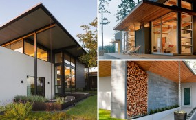 14個利用雨水鏈轉移水源的現代住宅