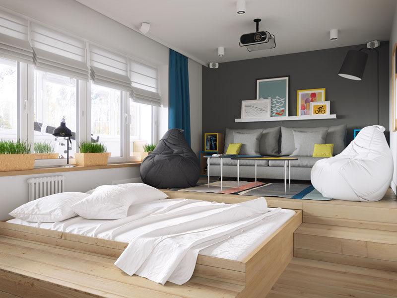小公寓卧室的巧妙设计的相关图片