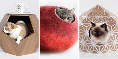 貓床也可以很時尚!快來看看11個形狀多樣的貓洞吧