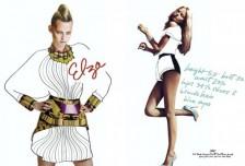 時尚界工作:創意模特展示包裝相關圖片
