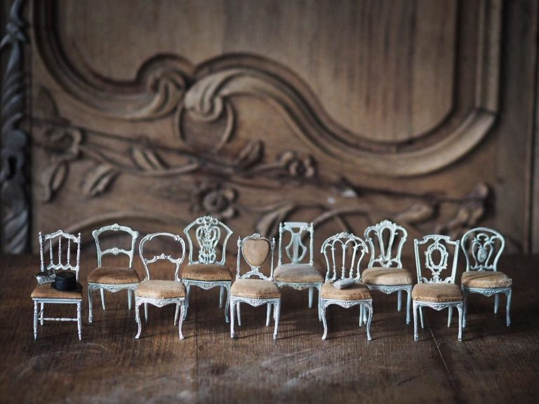 日本微雕藝術家Kiyomi 設計的微型室的相關圖片