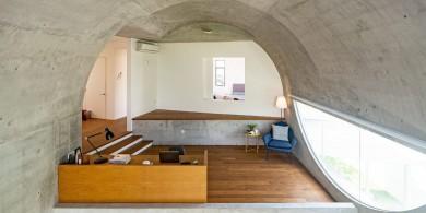 吉隆坡现代拱形屋顶住宅设计