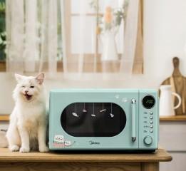 美的猫猫微波炉文描 撸猫、干饭、真