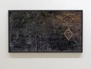动量:量子力学机构黑板的大幅图片