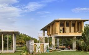 生活在自然的擁抱之中,印度獨棟別墅設計