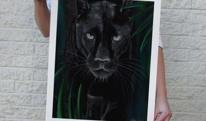 繪畫:藝術家凱爾西·恩布洛用數千個小點創作的《大貓》相關圖片