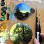 Dina Brodsky 用细致的微型山水画记录了她的旅
