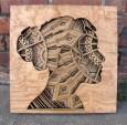 奥克兰艺术家Gabriel Schama 的激光雕刻木浮雕