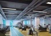 西安1000平方健身房装修设计案例