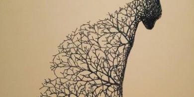 韩国艺术家Kang Dong Hyun创作精美的金属动物雕塑