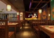 青岛特色烧烤店烤肉店装修设计--山东