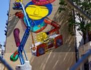 巴西艺术家Os Gemeos 创作嘻哈文化主题壁画作品