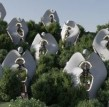 撒丁岛模块化的预制钢屋,参考了艺术家Constantino Nivola的作品