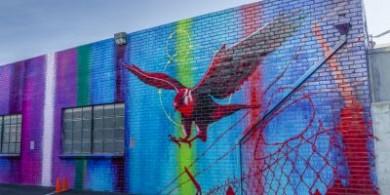 涂鸦艺术家RISK 在洛杉矶