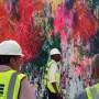 出现在曼哈顿著名大楼的巨型壁画,耗时八个月才